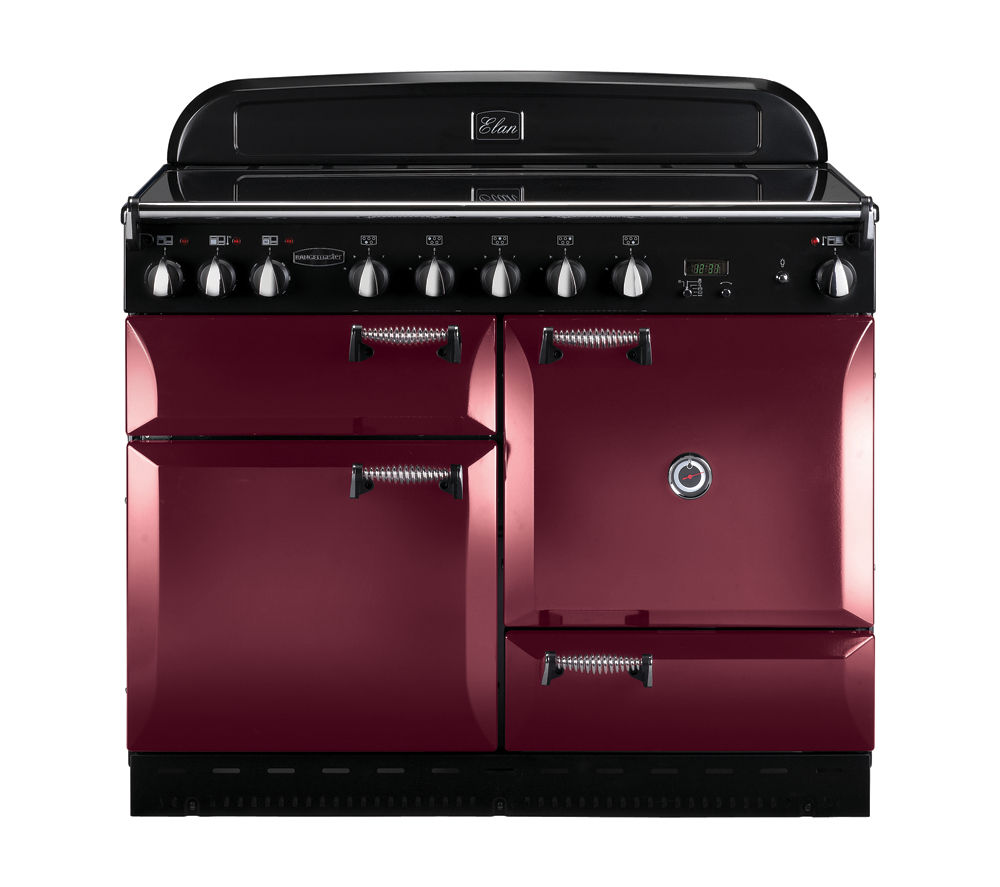 RANGEMASTER Elan 110 Electric Induction Range Cooker - Cranberry, Cranberry