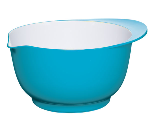 COLOURWORKS 24 cm Mixing Bowl - Blue & White, Blue