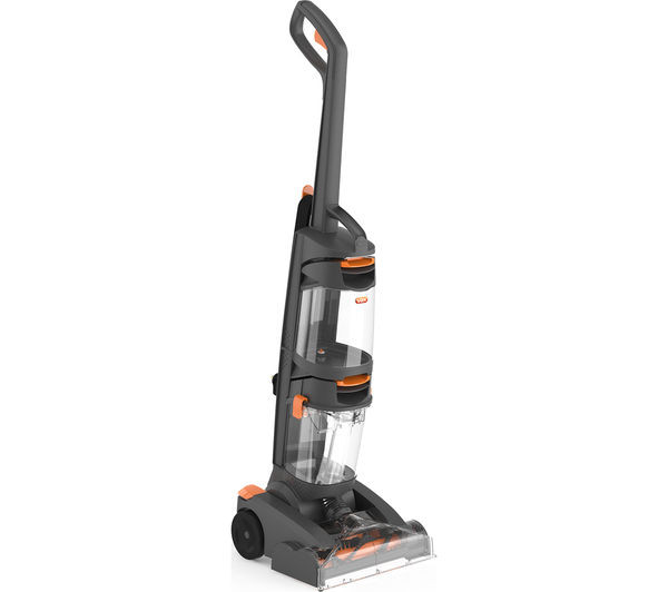 VAX W86-DP-B Dual Power Upright Carpet Cleaner - Grey & Orange, Grey