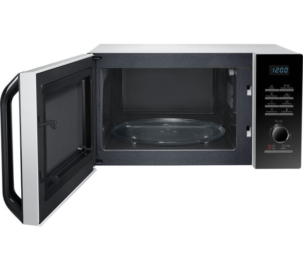 SAMSUNG MS23H3125AW Solo Microwave - Black & White, Black