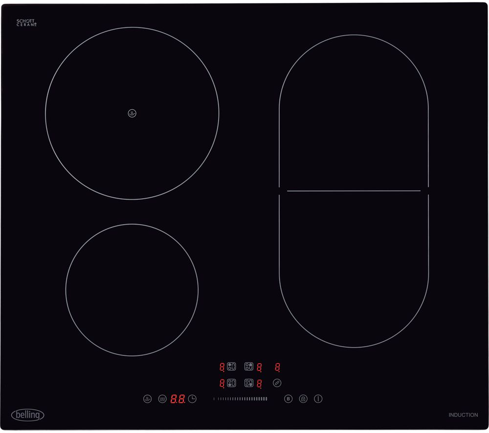 BELLING IHL602 Electric Induction Hob - Black, Black