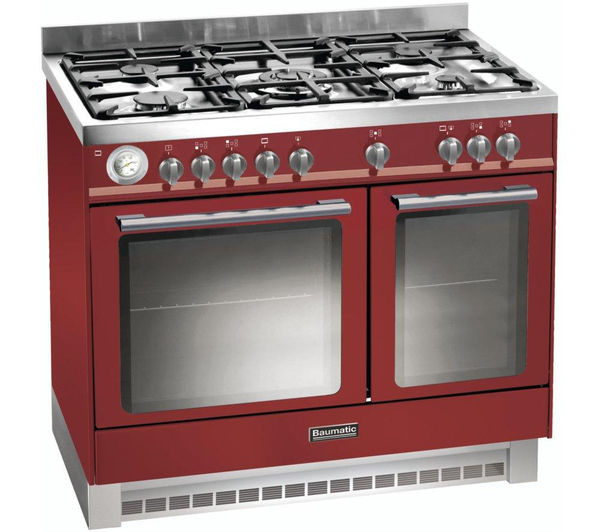 BAUMATIC BCD925BDY Dual Fuel Range Cooker - Burgundy