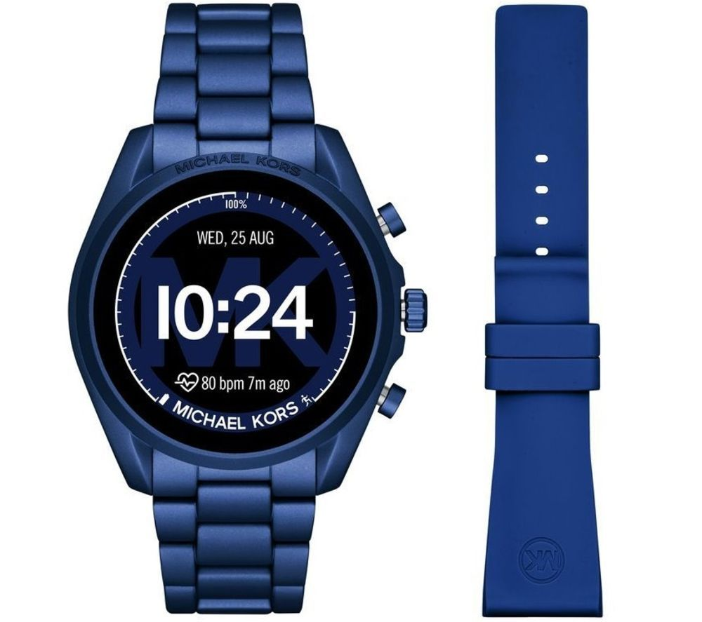 MICHAEL KORS Access Bradshaw 2 MKT5102 Smartwatch - Blue, Aluminium Strap, 44 mm, Blue