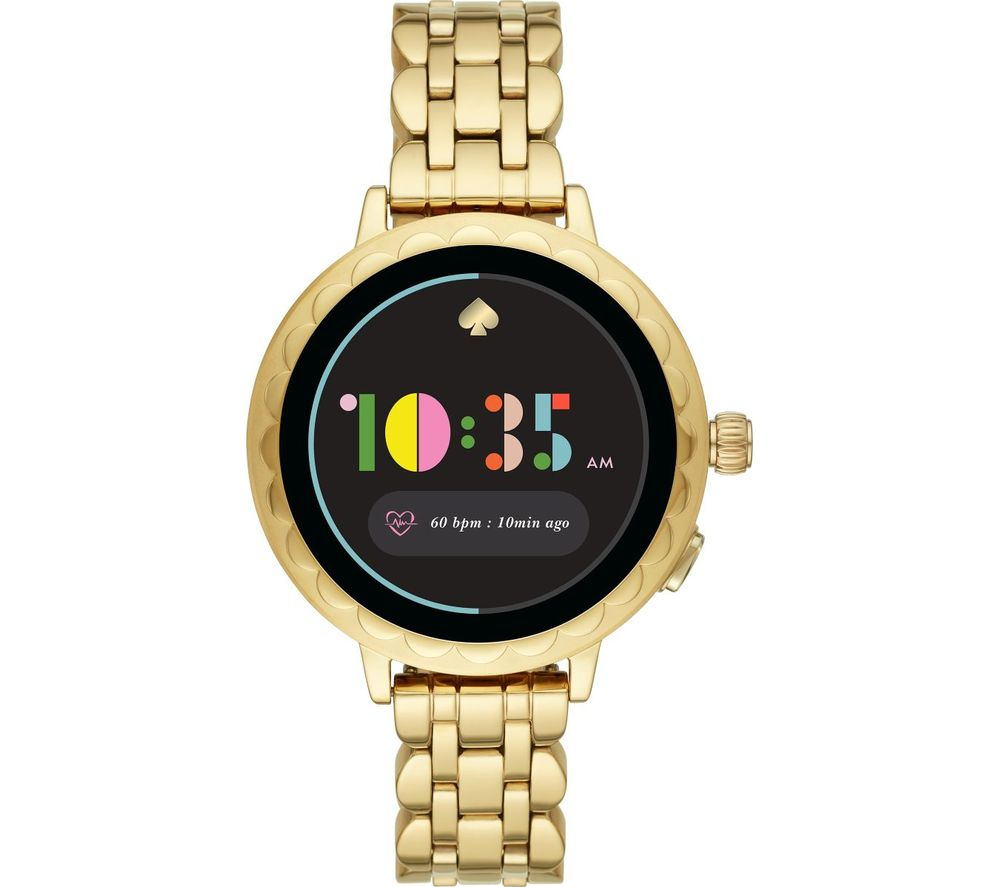 KATE SPADE Scallop 2 KST2014 Smartwatch - Gold, Stainless Steel Strap, 42 mm, Stainless Steel