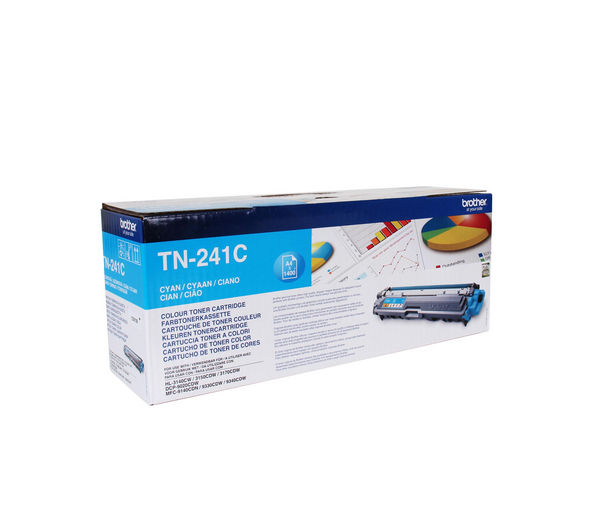 BROTHER TN241C Cyan Toner Cartridge, Cyan