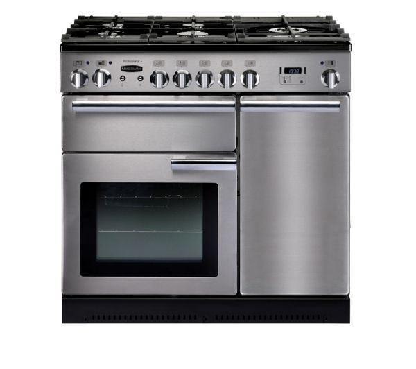 Rangemaster Professional 90 Dual Fuel Range Cooker - Stainless Steel, Stainless Steel