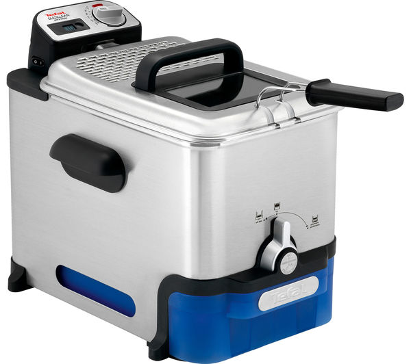 TEFAL Oleoclean Pro FR804040 Deep Fryer - Stainless Steel, Stainless Steel