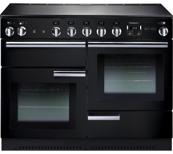 Rangemaster Professional+ 110 Electric Induction Range Cooker - Black & Chrome, Black