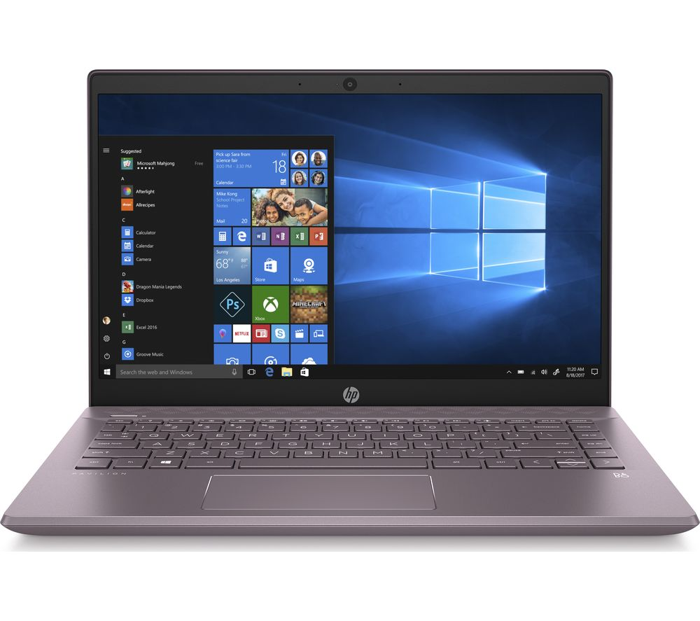 "HP Pavilion 14-ce3509sa 14"" Laptop - Intel® Core™ i3, 128 GB SSD, Mauve"