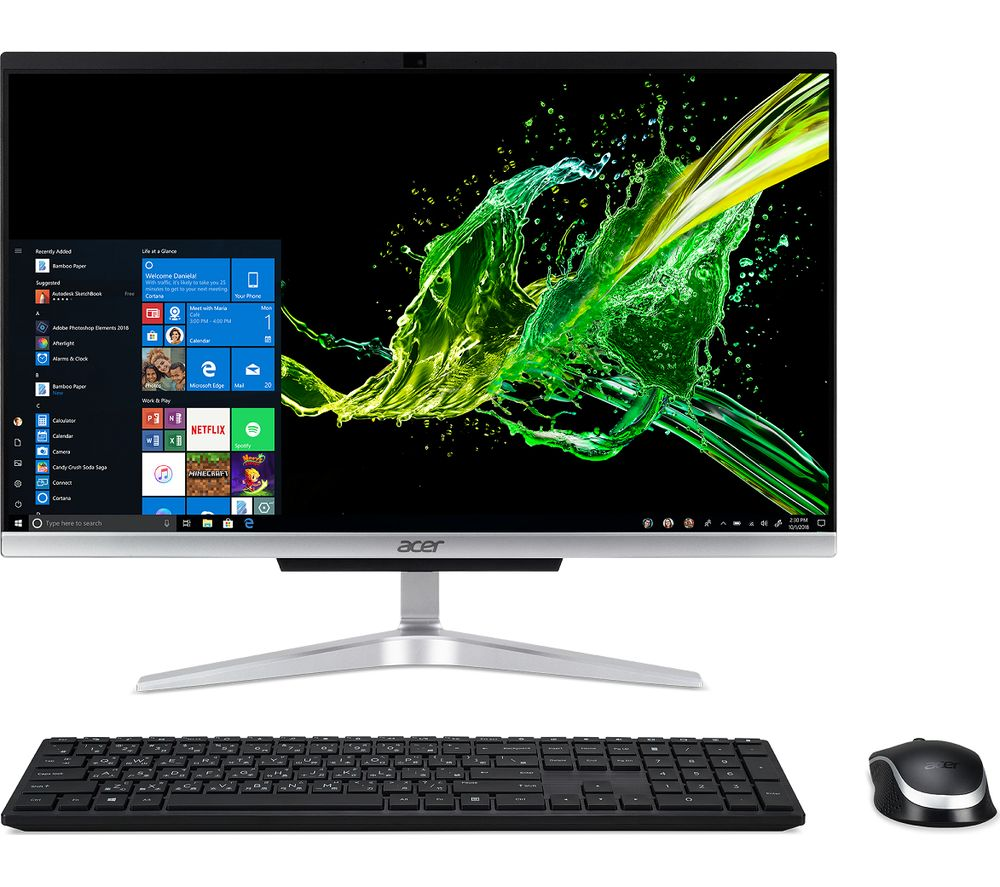 "ACER C22-960 21.5"" All-in-One PC - Intel® Core™ i3, 1 TB HDD, Silver, Silver"