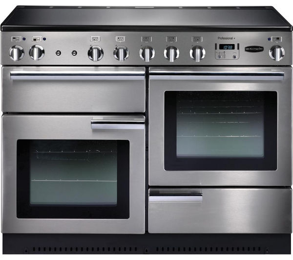 Rangemaster Professional+ 110 Electric Induction Range Cooker - Stainless Steel & Chrome, Stainless Steel