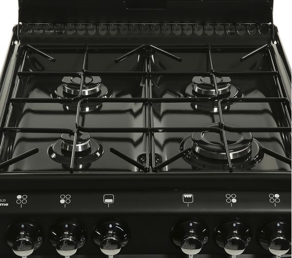 NEW WORLD 500TSIDL Gas Cooker - Black, Black