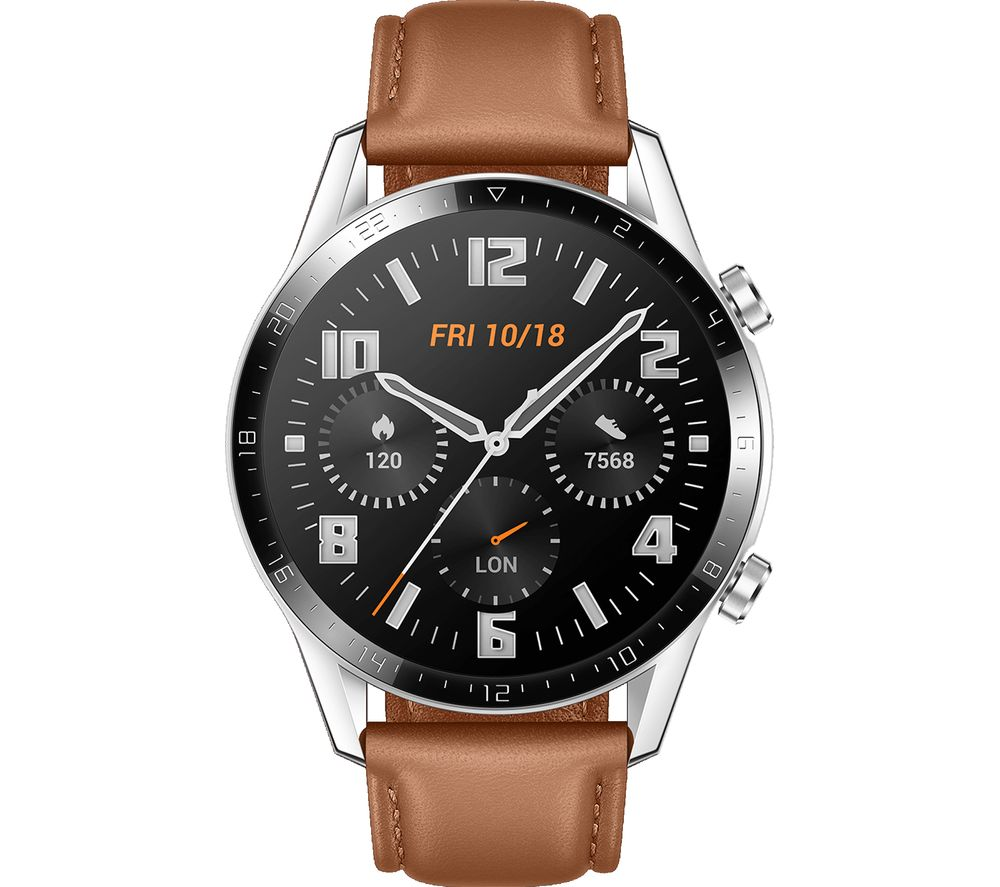 HUAWEI Watch GT 2 Classic - 46 mm, Pebble Brown, Brown