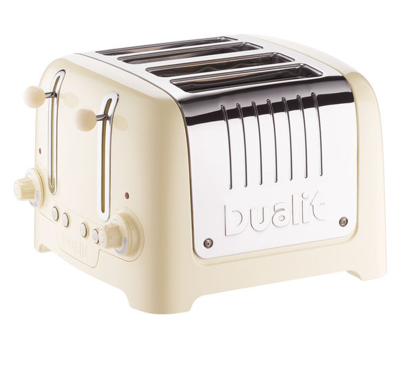 DUALIT DL4C 4-Slice Toaster - Cream, Cream