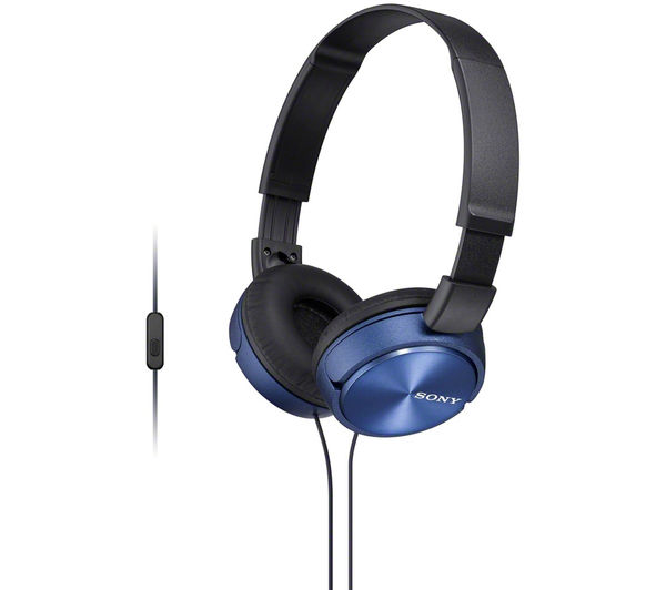 SONY MDR-ZX310APL Headphones - Blue, Blue