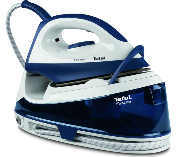 TEFAL Fasteo SV6040 Steam Generator Iron - Blue & White, Blue