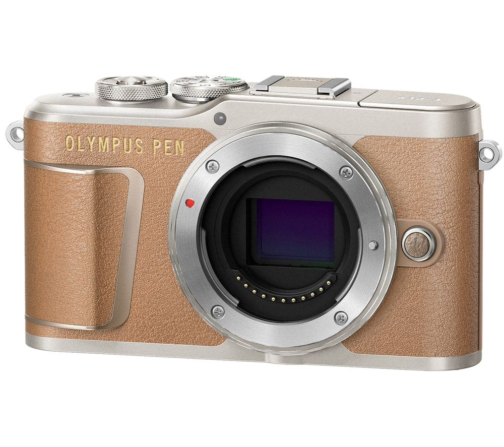 OLYMPUS PEN E-PL9 Mirrorless Camera with 32 GB SD Card - Brown, Body Only, Brown