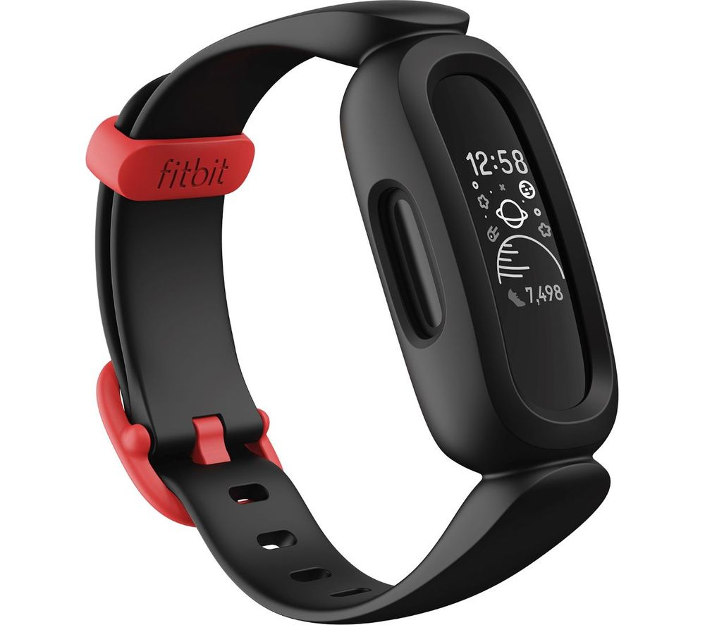 FITBIT ACE 3 Kid's Fitness Tracker - Black & Red, Universal, Black