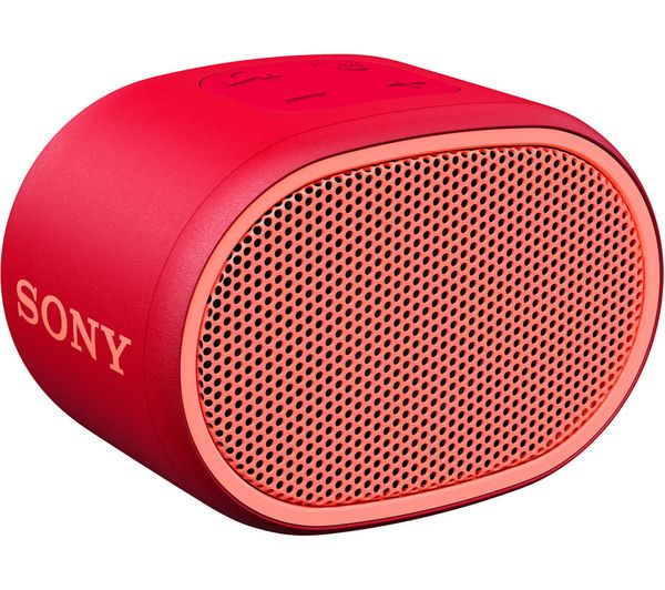 SONY SRS-XB01 Portable Bluetooth Speaker - Red, Red