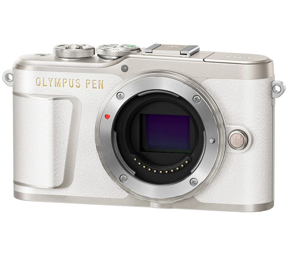 OLYMPUS PEN E-PL9 Mirrorless Camera with 32 GB SD Card - White, Body Only, White