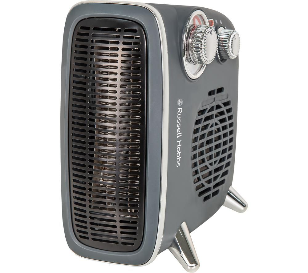 RUSSELL HOBBS RHRETHFH1001G Portable Fan Heater - Grey, Grey
