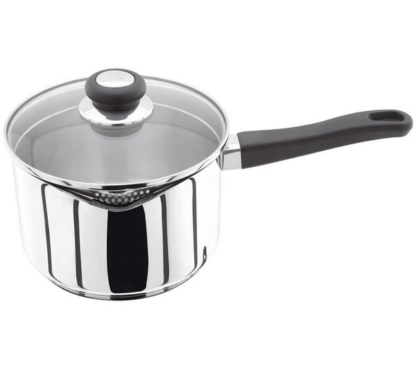 JUDGE VISTA 20 cm Draining Lid Saucepan - Stainless Steel, Stainless Steel