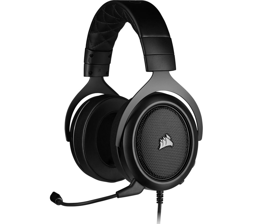 CORSAIR HS50 PRO STEREO 2.0 Gaming Headset - Black, Black