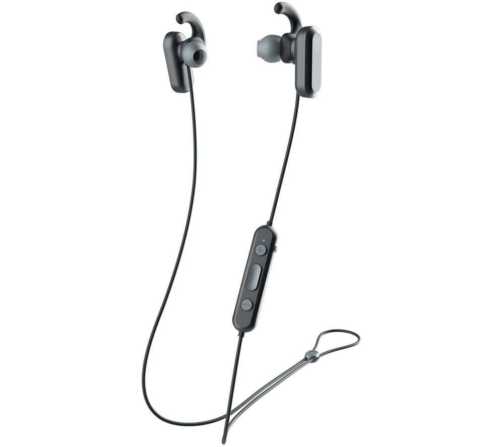 SKULLCANDY Method S2NQW-M448 Wireless Bluetooth Noise-Cancelling Sports Earphones - Black & Grey, Black