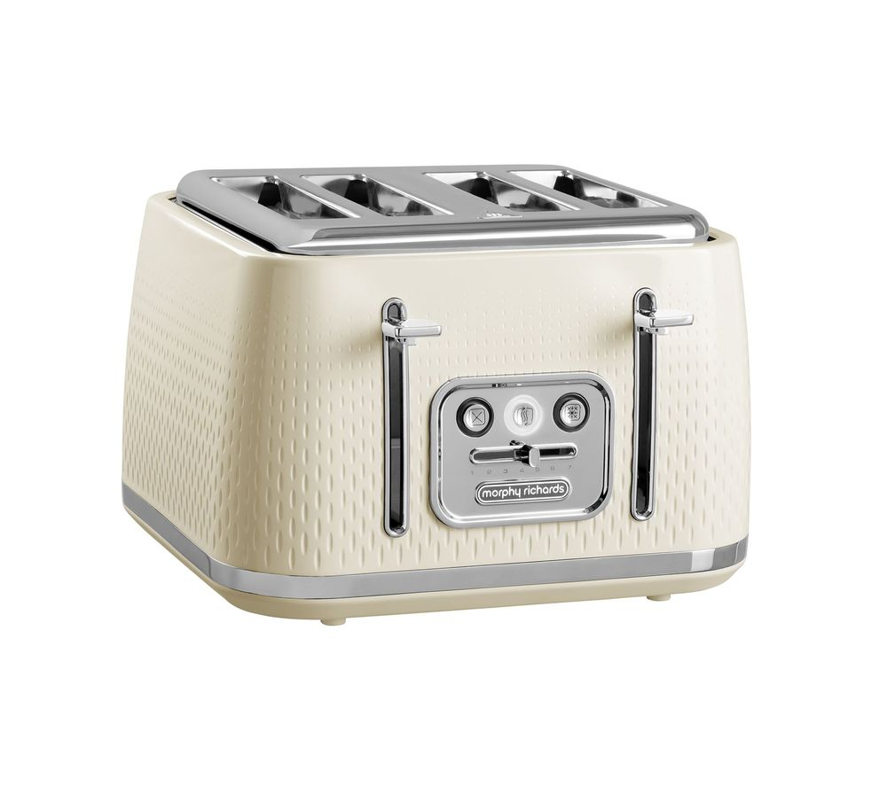 MORPHY RICHARDS Verve 243011 4-Slice Toaster - Cream, Cream