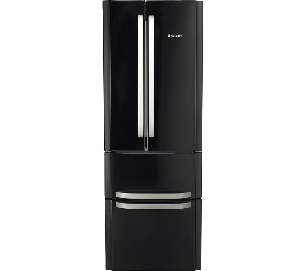HOTPOINT FFU4D K 1 Fridge Freezer - Black, Black
