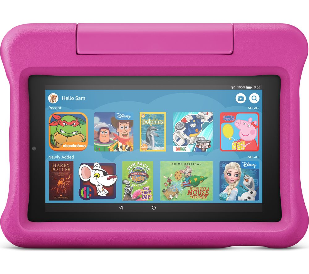 "Fire 7 Kids Edition 7"" Tablet (2019) - 16 GB, Pink, Pink"