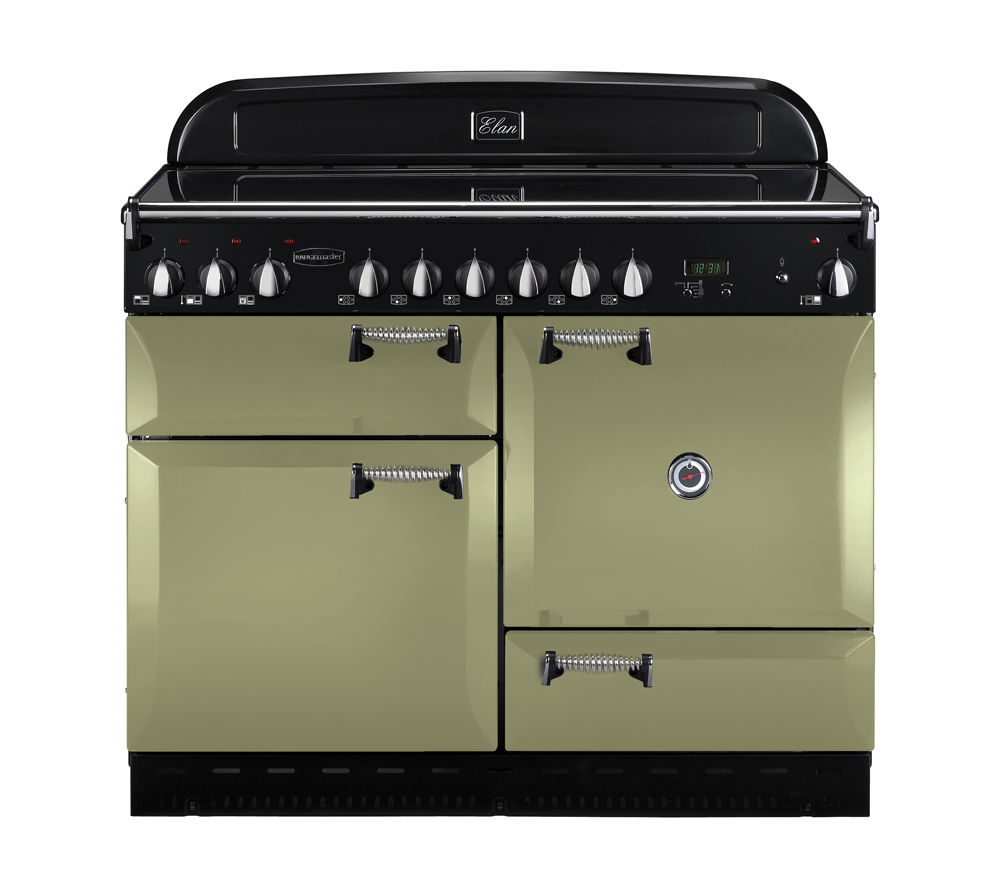 RANGEMASTER Elan 110 Electric Ceramic Range Cooker - Olive Green, Olive