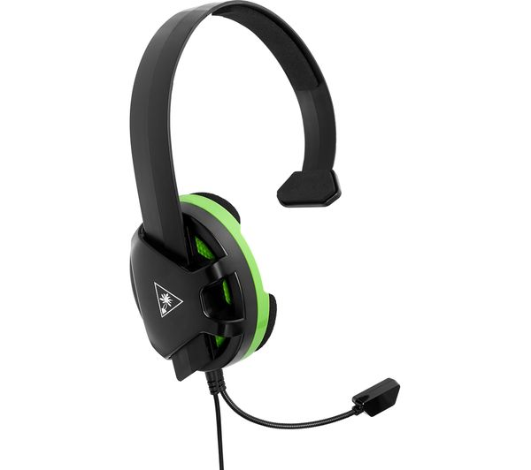 TURTLE BEACH Recon Chat Gaming Headset - Black & Green, Black