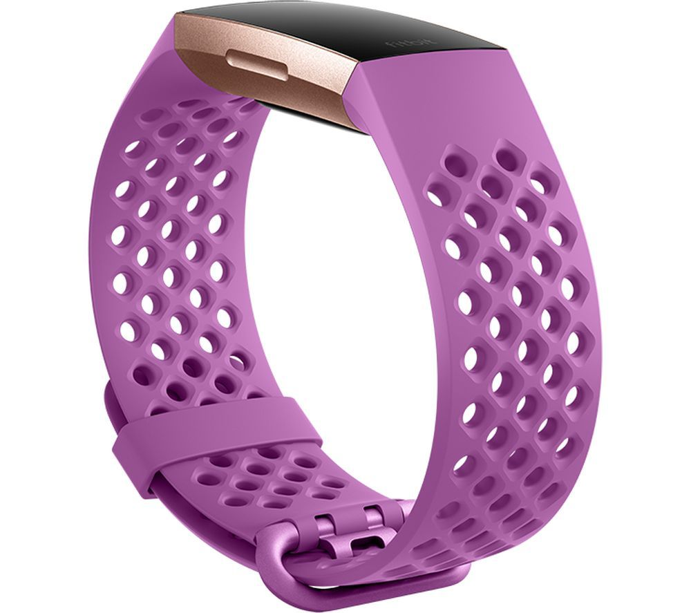 FITBIT Charge 3 Sport Band - Berry, Large