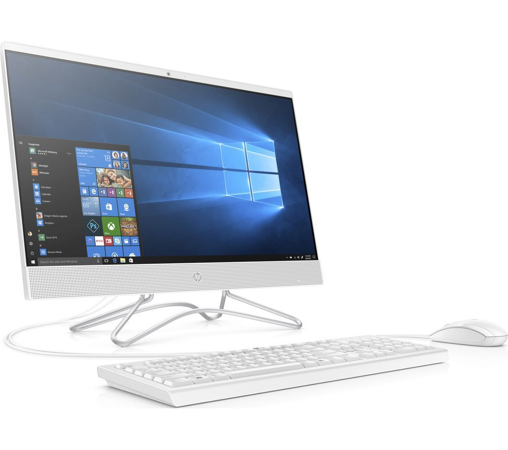 "HP 24-f0047na 23.8"" All-in-One PC - Intel® Core™ i3+, 1 TB HDD, White, White"