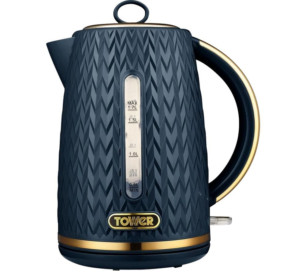 TOWER Empire Collection T10052MNB Jug Kettle - Midnight Blue, Blue