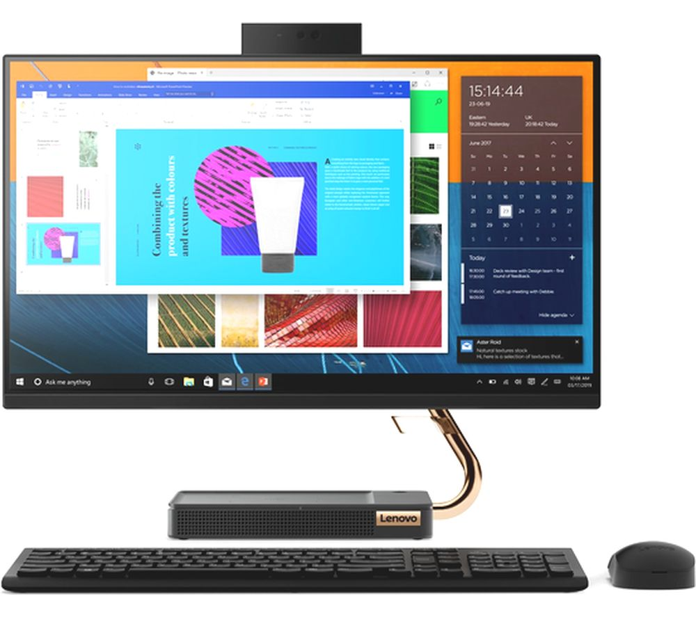 "LENOVO IdeaCentre A540 23.8"" All-in-One PC - AMD Ryzen 5, 1 TB HDD, Black, Black"