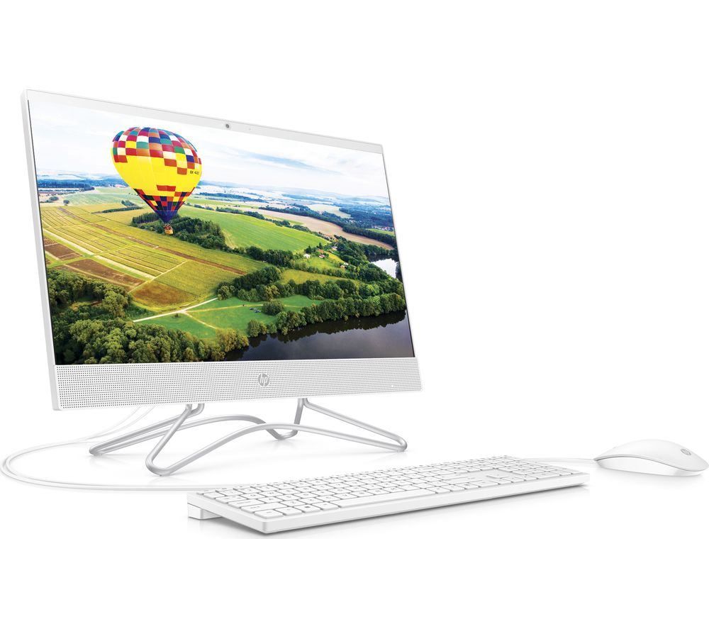 "HP 22-c1006na 21.5"" All-in-One PC - AMD Ryzen 3, 1 TB HDD & 256 GB SSD, White, White"
