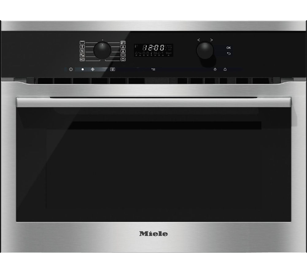 MIELE H6100BM Electric Oven & Microwave - CleanSteel, Red