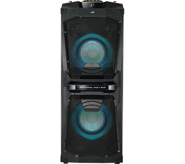 JVC MX-D528B Bluetooth Megasound Party Speaker - Black, Black