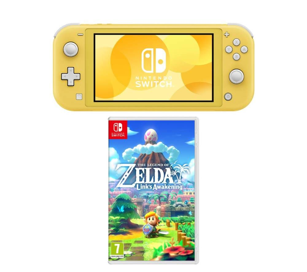 Nintendo Switch Lite & The Legend of Zelda Links Awakening Bundle - Yellow, Yellow