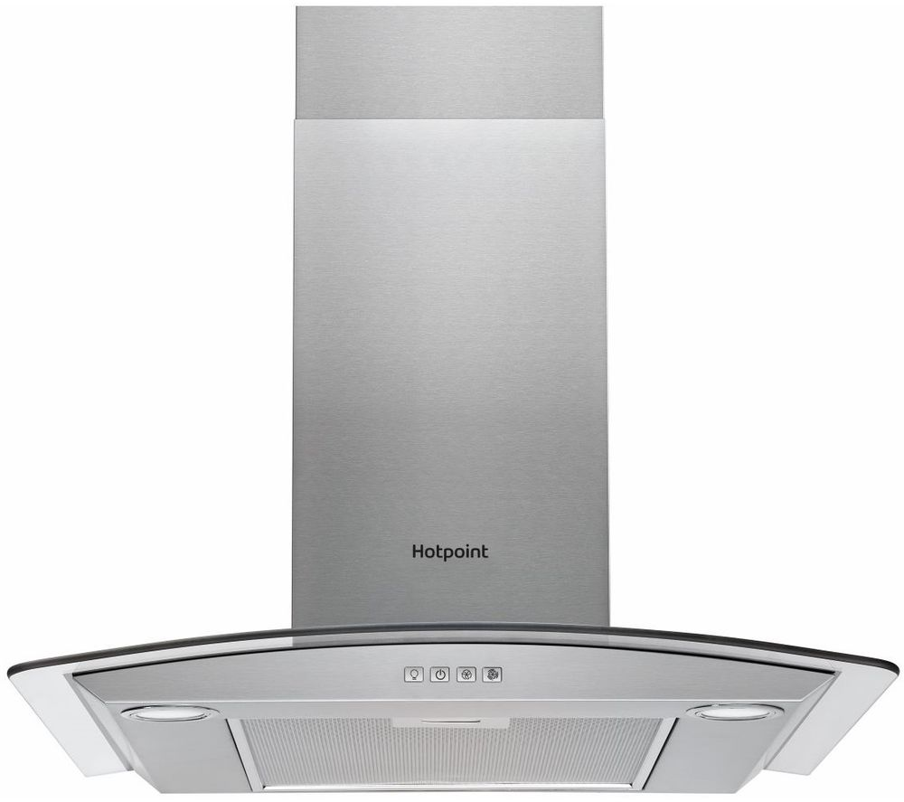 HOTPOINT PHGC7.4 FLMX Chimney Cooker Hood - Stainless Steel, Stainless Steel