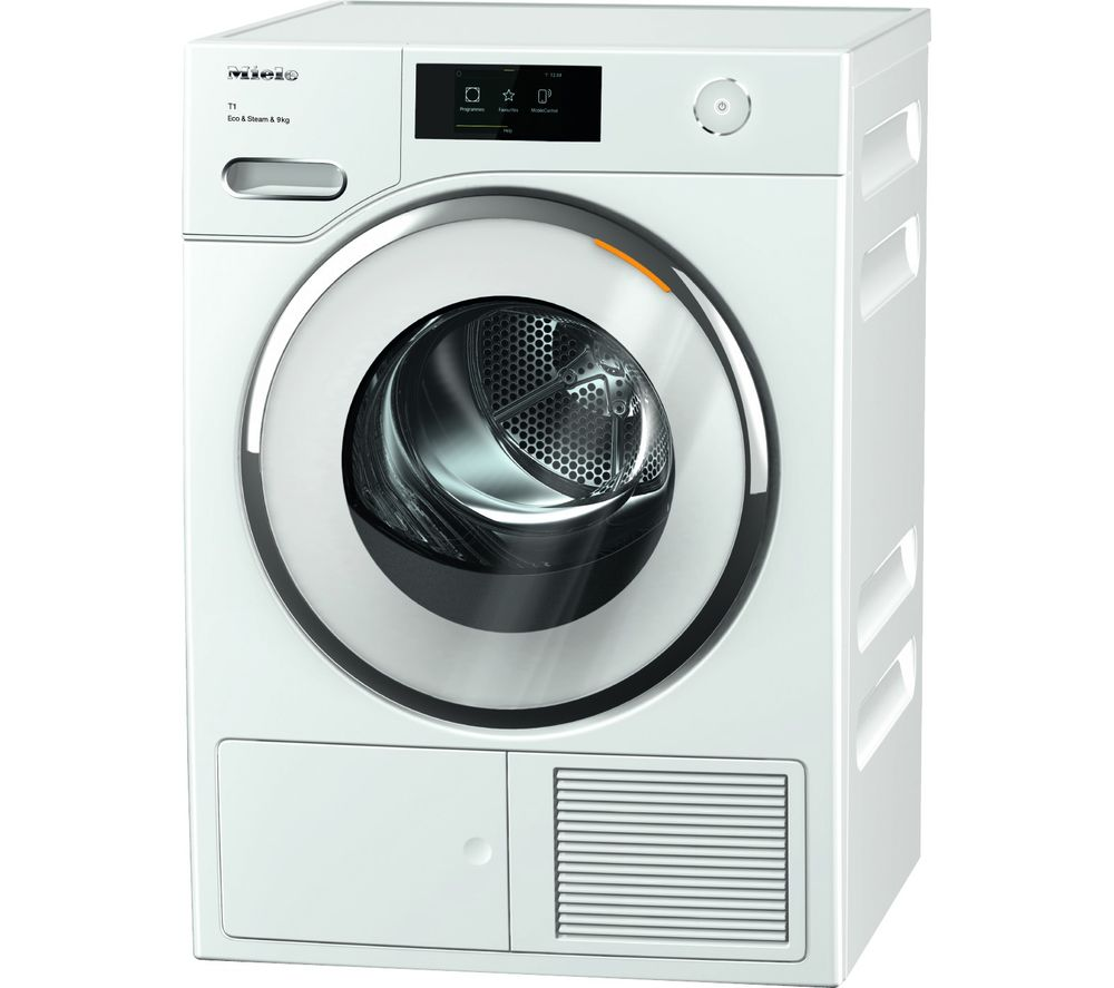 MIELE TWR860 WP WiFi-enabled 9 kg Heat Pump Tumble Dryer - White, White