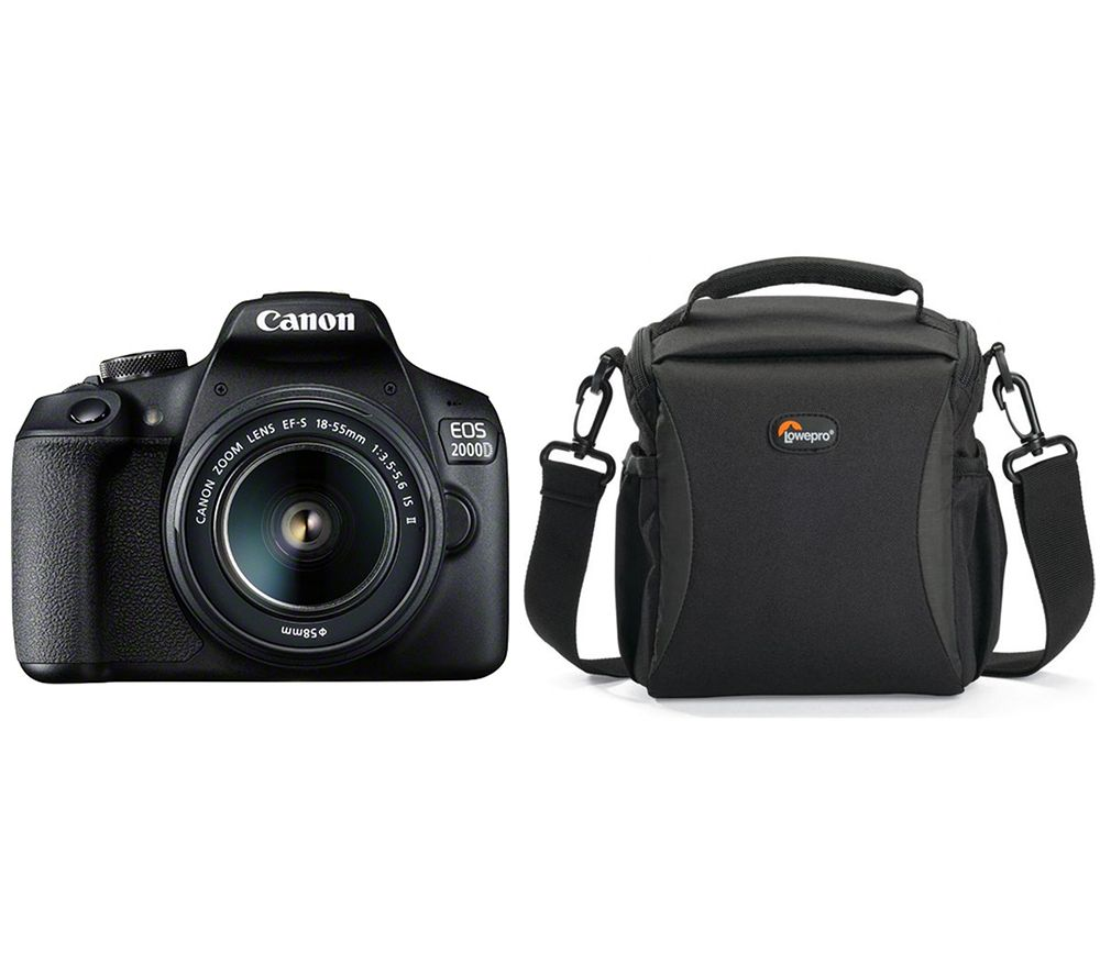 CANON EOS 2000D DSLR Camera with EF-S 18-55 mm f/3.5-5.6 IS II Lens & Bag Bundle