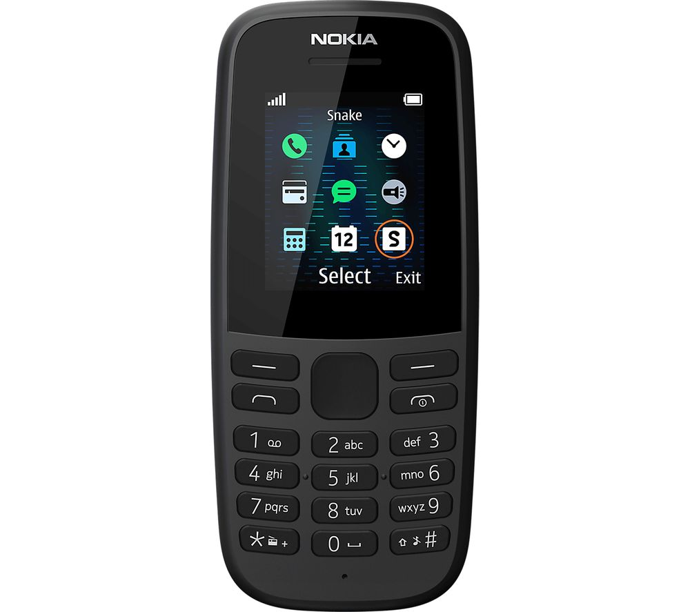 NOKIA 105 5th Edition - 4 MB, Black, Black
