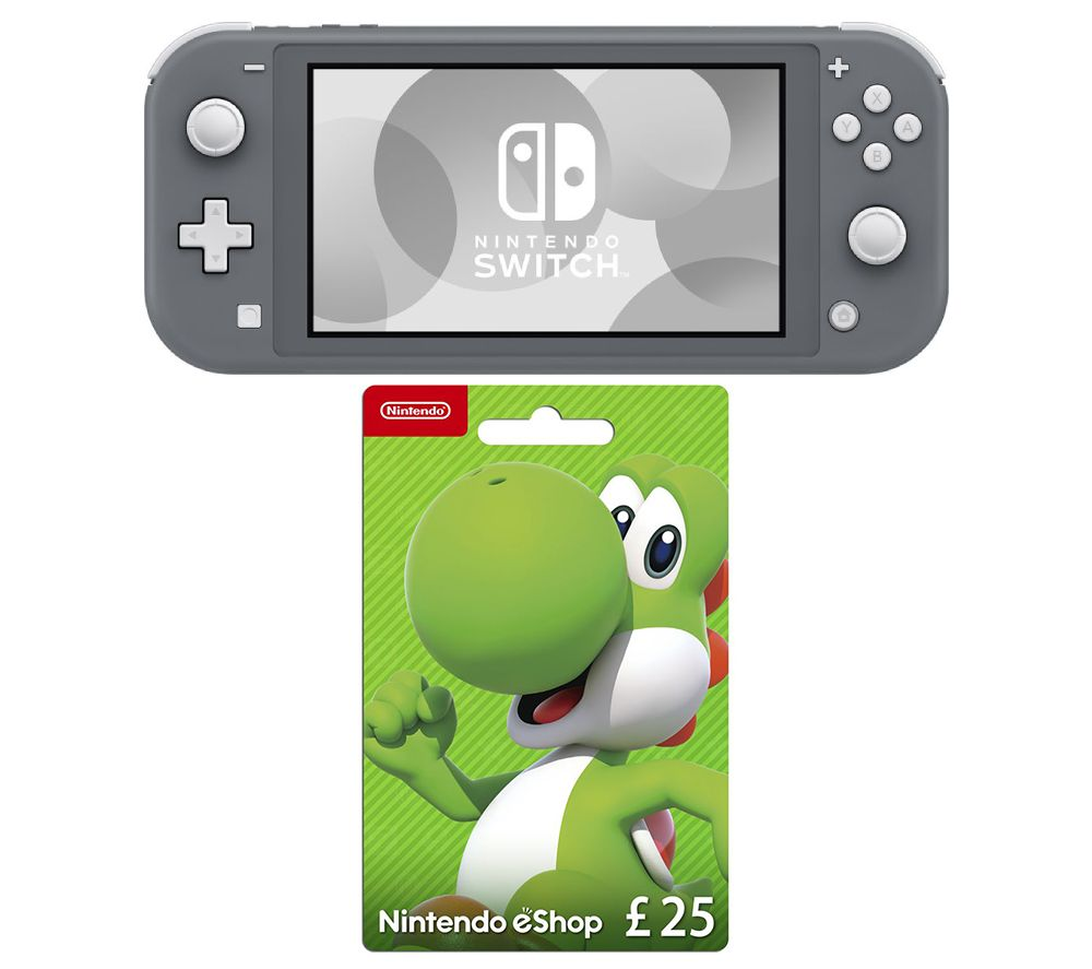 NINTENDO Switch Lite & eShop £25 Gift Card Bundle - Grey, Grey