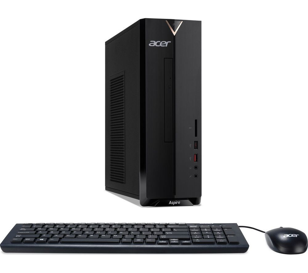ACER Aspire XC-886 Desktop PC - Intelu0026regPentium Gold, 1 TB HDD, Black, Gold