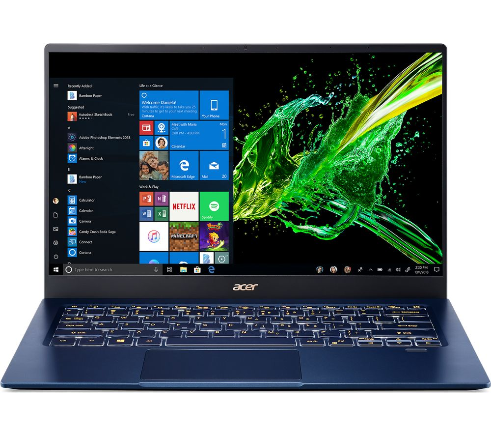 "Swift 5 SF514-54T 14"" Laptop - Intel®? Core™? i5, 256 GB SSD, Blue, Blue"