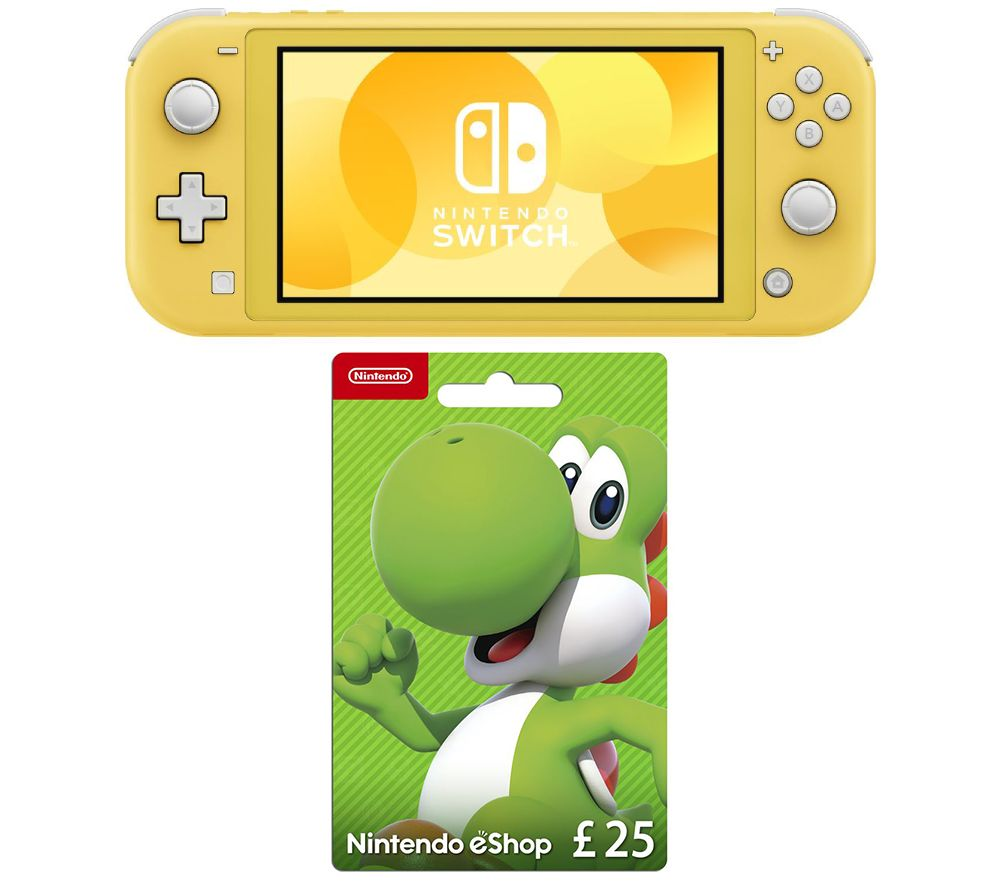 NINTENDO Switch Lite & eShop £25 Gift Card Bundle - Yellow, Yellow