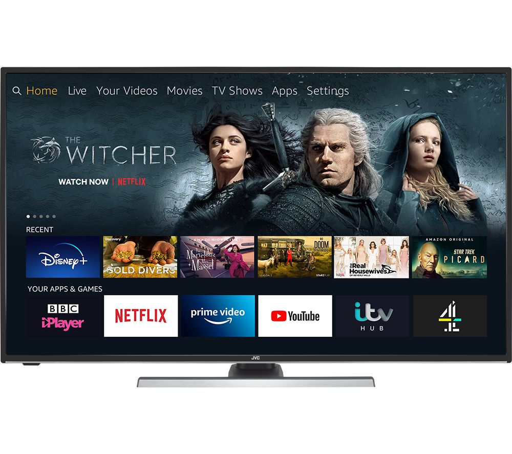 "49"" JVC LT-49CF890 Fire TV Edition  Smart 4K Ultra HD HDR LED TV with Amazon Alexa"